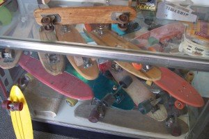 Some of the skate history on display
