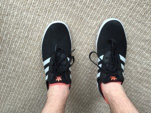 adidas ADV BOOST skate shoe - view on feet