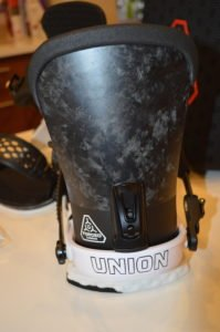 union ultra snowboard bindings forged carbon highback