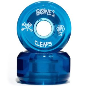 Bones Clear Blue Skatboard Wheels