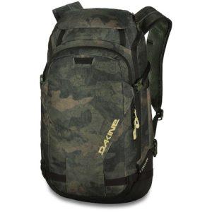 Dakine heli pro DLX 24L back pack peat camo color scheme