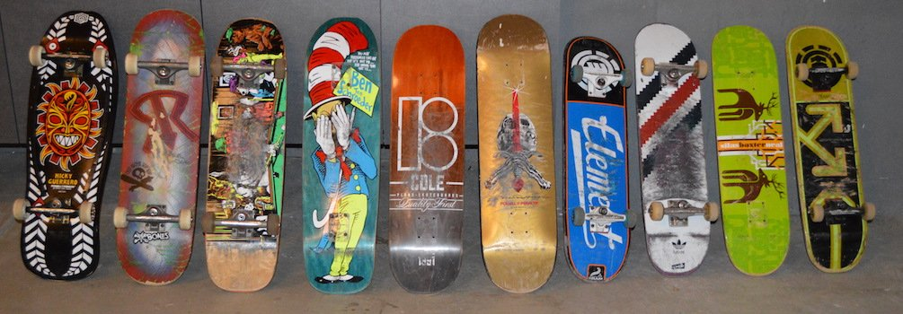 Chris skateboards over the last several years