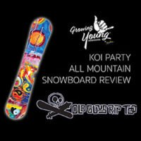 Growing Young Snowboards Koi Party Review