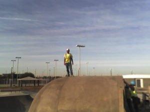 Wrex Cook building Goodyear Skatepark, AZ